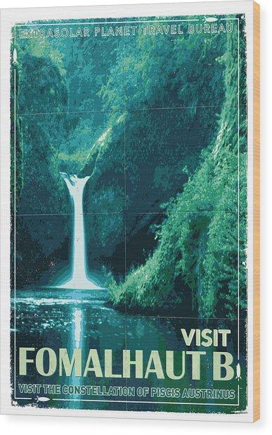 Exoplanet 04 Travel Poster Fomalhaut B Wood Print