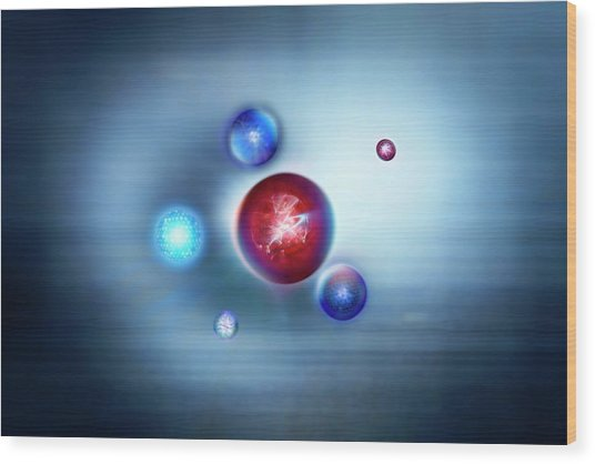 Exotic Particles Wood Print by Richard Kail