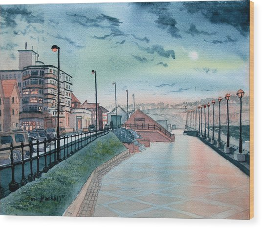 Expanse Hotel And South Promenade In Bridlington Wood Print
