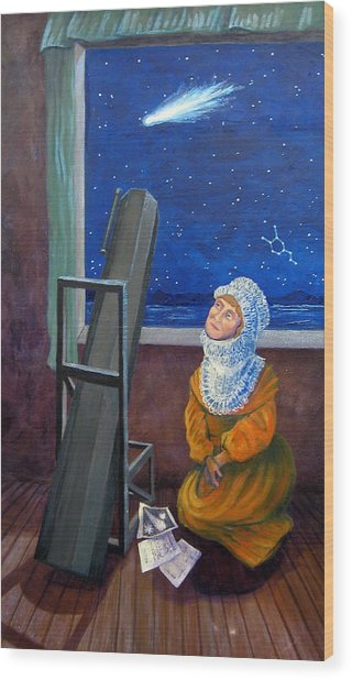 Explorer Of Stars - Caroline Herschel Wood Print