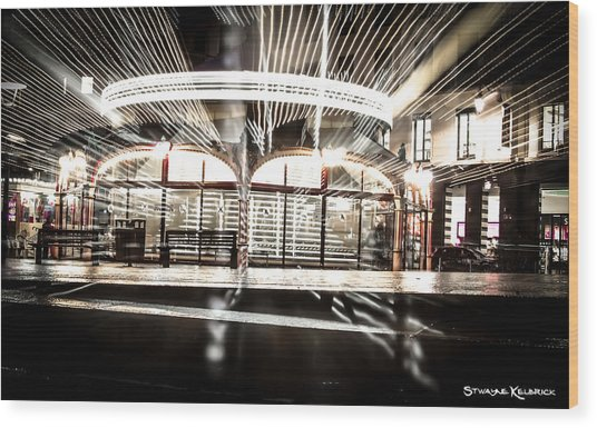 Wood Print featuring the photograph Explozoom On A French Carousel by Stwayne Keubrick