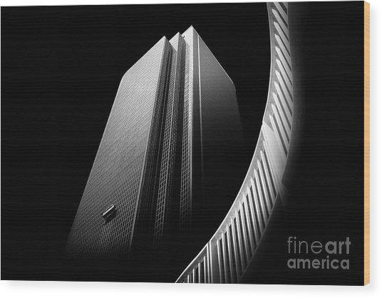 Express Elevator Wood Print