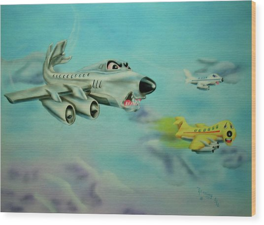 Extreme Airline Mergers Wood Print
