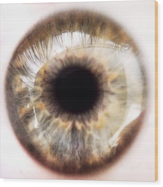 Extreme Close-up Of Human Eye Wood Print by David Crunelle / Eyeem