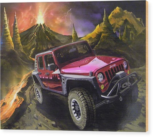 Extreme Off Roading Wood Print