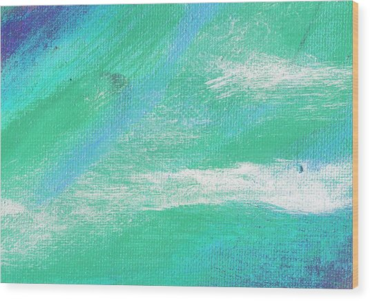 Exuberant Aqua Blue Valley Wood Print by L J Smith
