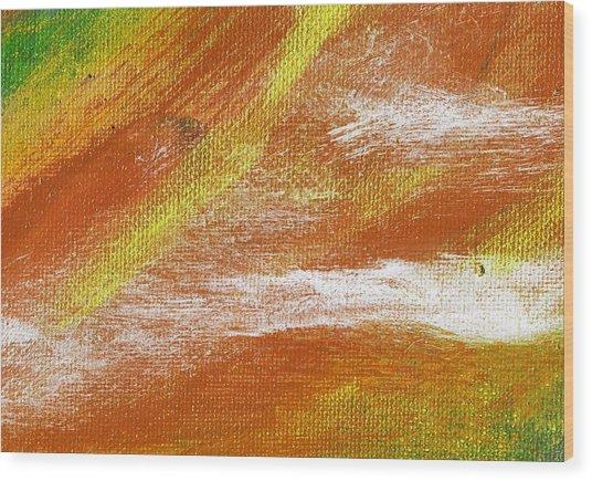 Exuberant Cooper Hue  Wood Print by L J Smith