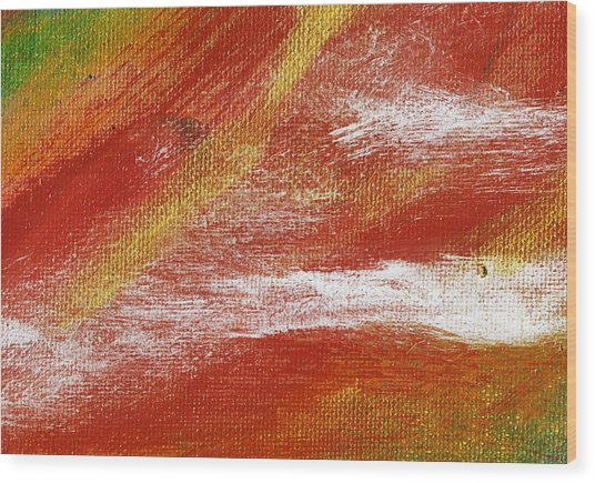Exuberant Natural Wood Print by L J Smith