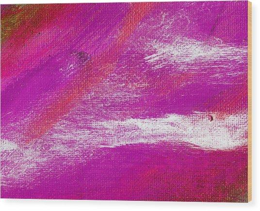 Exuberant Purple Valley Wood Print by L J Smith