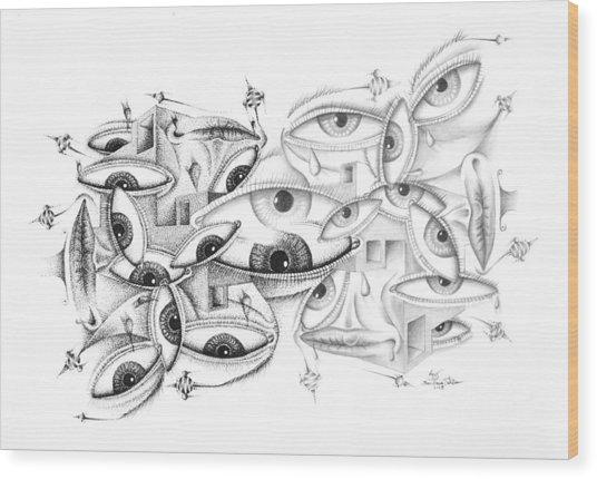 Ey Ey Eyeeye Wood Print