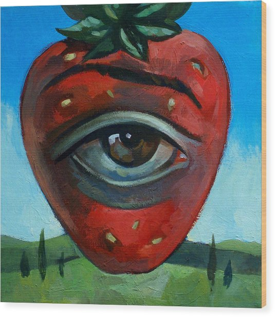 Eye Berry Wood Print by Filip Mihail
