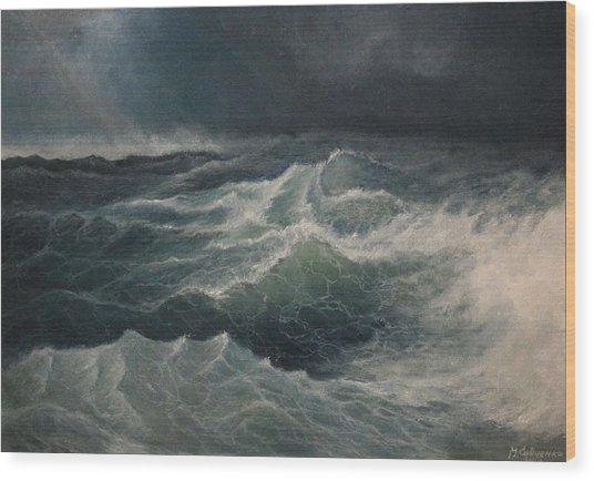 Eye Of Storm Wood Print