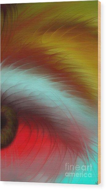 Eye Of The Beast Wood Print