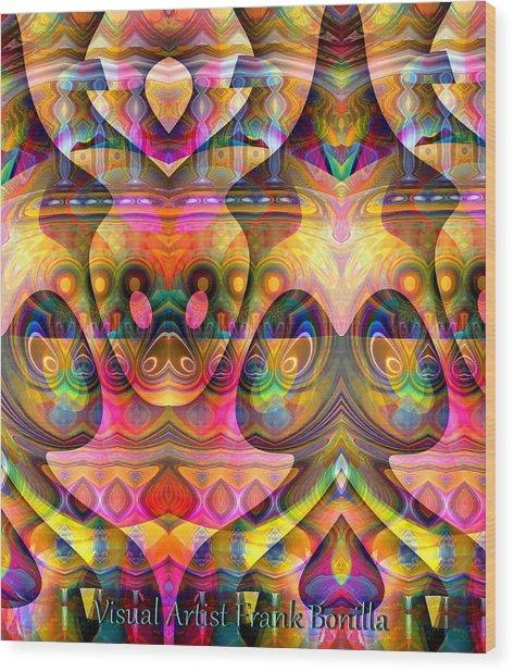 Eye Of The Snake Wood Print