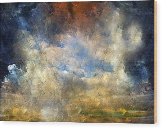 Eye Of The Storm  - Abstract Realism Wood Print