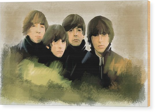 Eye Of The Storm The Beatles Wood Print