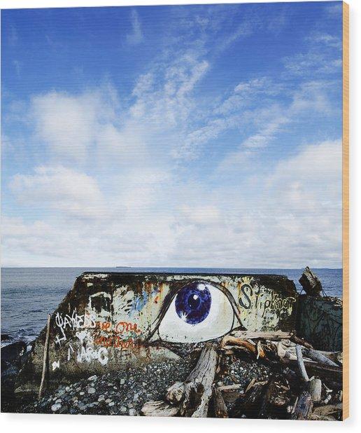 Eye On The Strait Wood Print