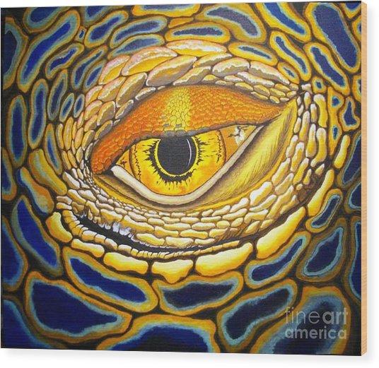 Eye On You Wood Print by Barry Bridges