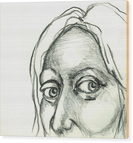 Eyes - The Sketchbook Series Wood Print