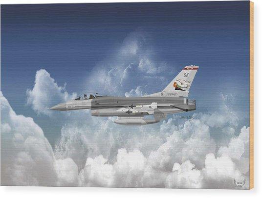 F-16c Falcon Wood Print by Arthur Eggers