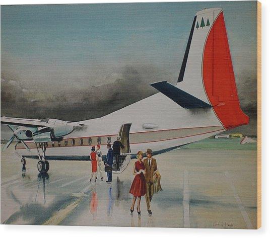 F-27 At Columbus Ohio Wood Print