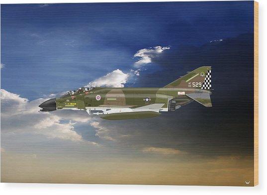 F-4c Phantom Wood Print by Arthur Eggers