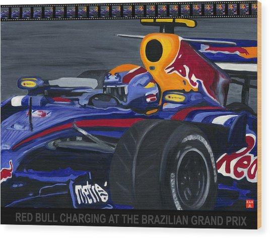 F1 Rbr At The Brazilian Grand Prix Wood Print