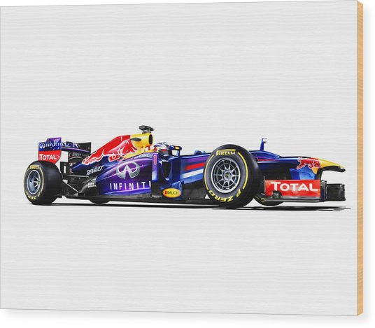 F1 Red Bull Rb9 Wood Print