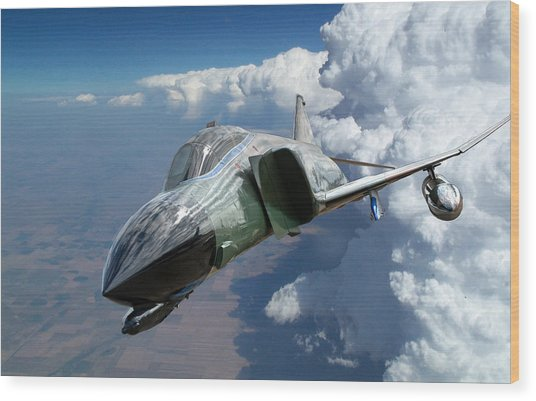 F4 Phantom Wood Print