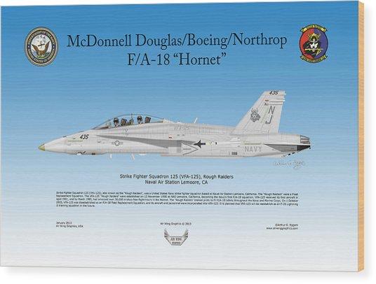 Fa-18 Hornet Wood Print by Arthur Eggers