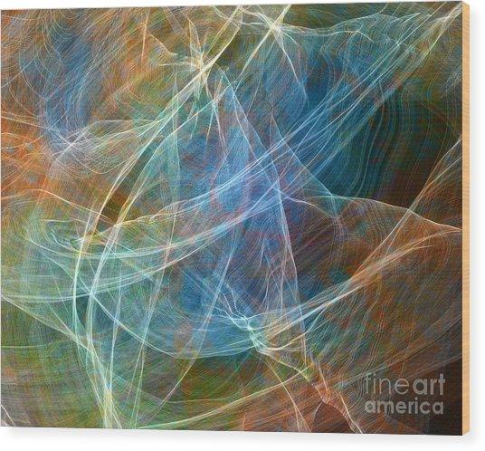 Fabric Nebula Wood Print