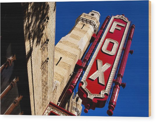 Wood Print featuring the photograph Fabulous Fox In Atlanta by Mark E Tisdale