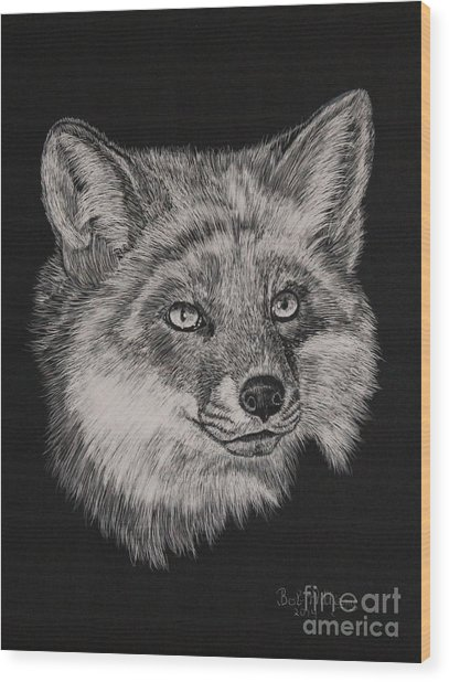Fabulous Mr. Fox Wood Print