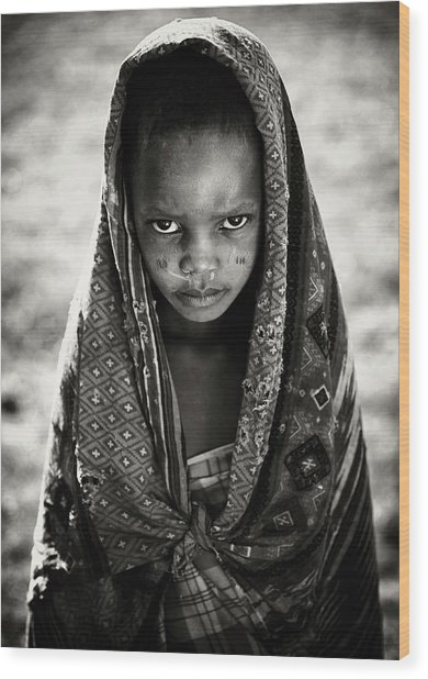 Face Of Africa Wood Print by Goran Jovic