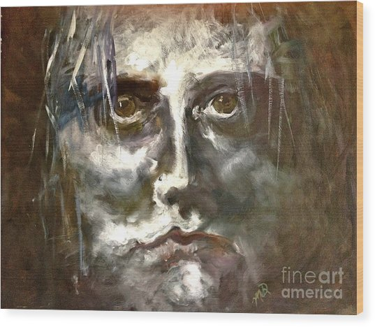 Face Series 1 Wood Print by Michelle Dommer