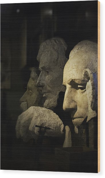 Wood Print featuring the photograph Faces Of Rushmore by Judy Hall-Folde
