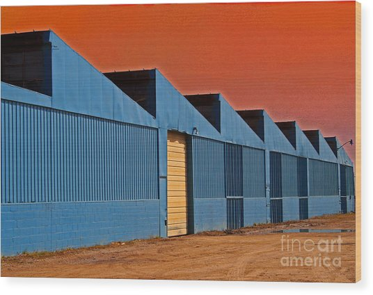 Factory Building Wood Print