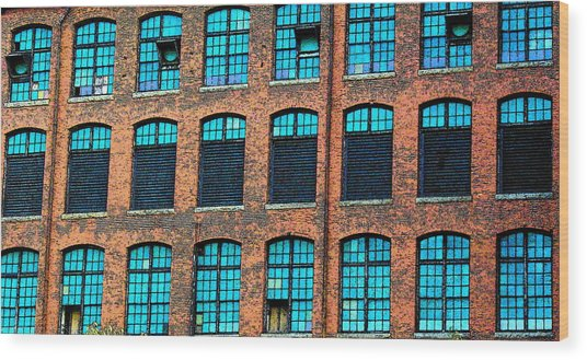 Factory Windows Wood Print