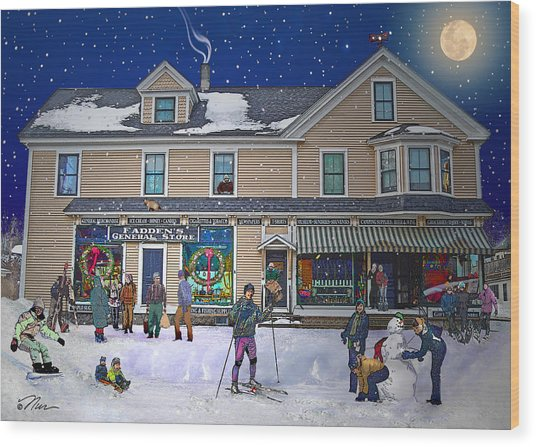 Faddens General Store In North Woodstock Nh Wood Print