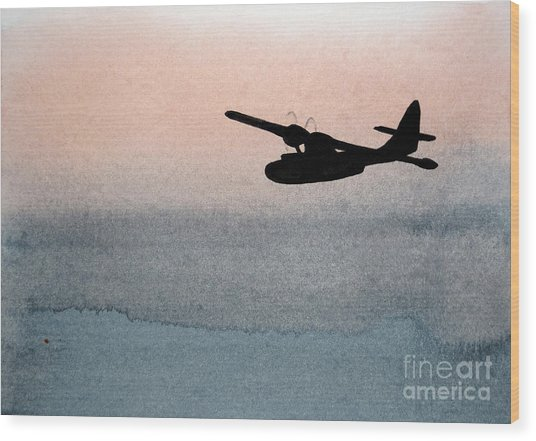 Fade Into Nothingness Pby Over Empty Sea Wood Print
