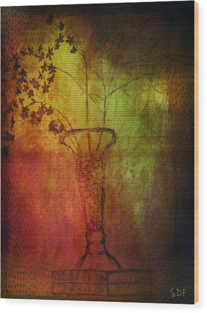 Fading Memory  Wood Print