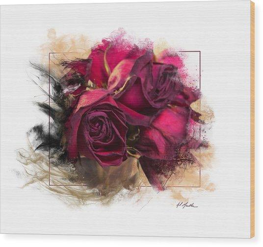 Fading Roses Wood Print