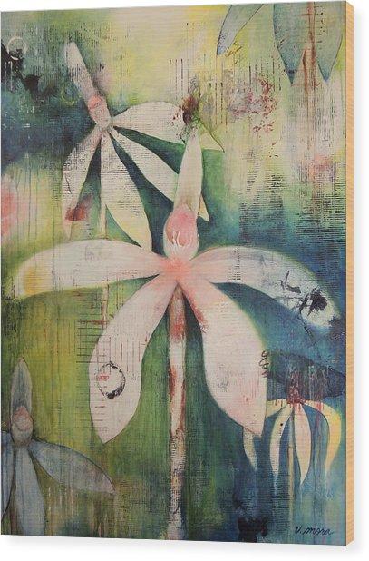 Faerie Fields Wood Print by Vivian Mora