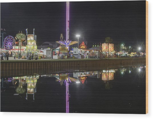 Wood Print featuring the photograph Fair Reflections by Judy Hall-Folde