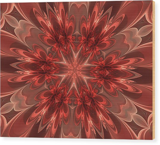 Fairest Of Them All Kaleidoscope Wood Print