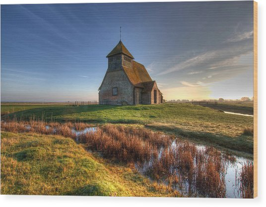 Fairfield Church Wood Print