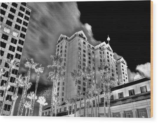 Fairmont From Plaza De Cesar Chavez Wood Print