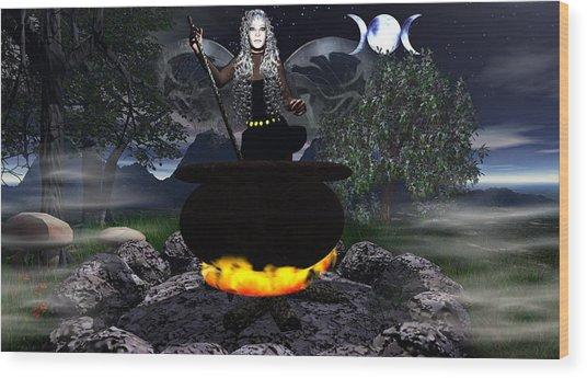 Fairy Cerridwen Wood Print