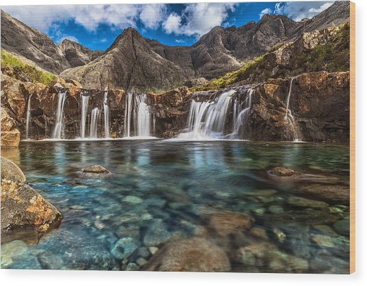 Fairy Pools Wood Print by Sergio Del Rosso Photography