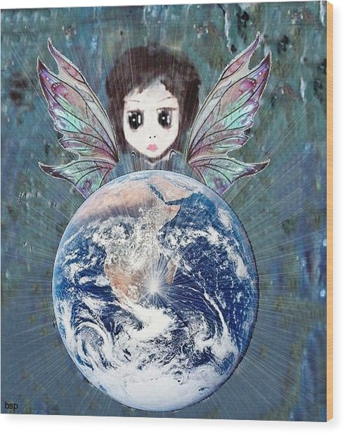 Fairy Star Wood Print by Robert Stagemyer